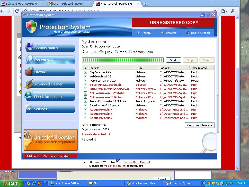 Protection System Malware. Advice needed |BullGuard Forum on