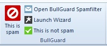 Microsoft Outlook toolbar