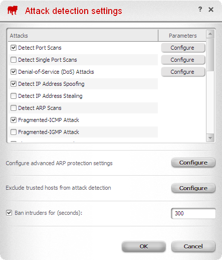 Firewall settings