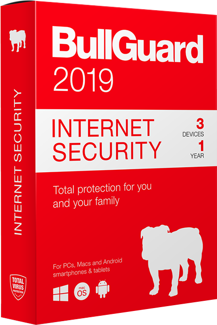 BullGuard Internet Security 2019 BullGuard Internet Security 2019 provides comprehensive protection from viruses and all other online threats. 1 Year, 3 Devices