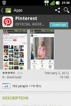 Pinterest for Android 3