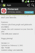 Pinterest for Android 4