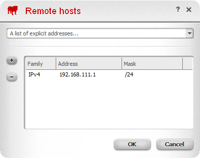 Firewall Remote Host
