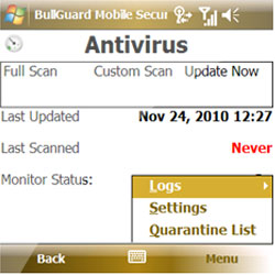 Windows Mobile Antivirus y Antispyware