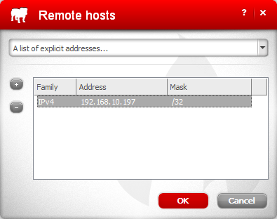 Application Rules - Remote Hosts