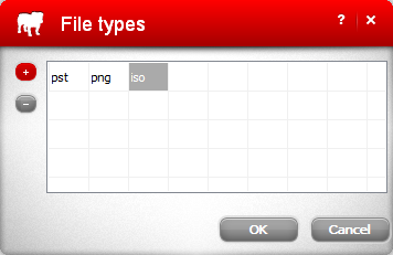 Excluded file types